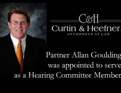 Partner Allan Goulding was appointed to serve as a Hearing Committee Member
